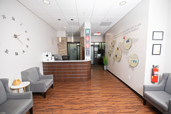 Chiropractic Annapolis MD Receptionist Desk and Waiting Room